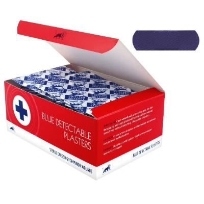 Blue Detectable Plasters - 7.6cm x 2.5cm (100)