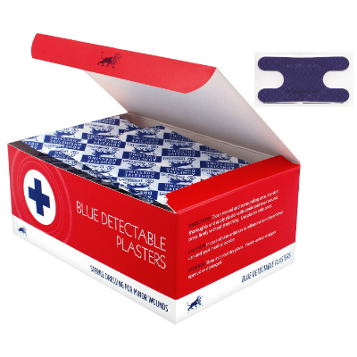 Blue Detectable Plasters - Anchor (50)