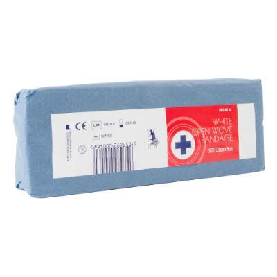 White Open Wove Bandage - 2.5cm x 5m (12)