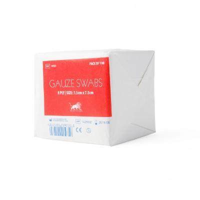 Gauze Swabs - 8ply - 7.5cm x 7.5cm (100)