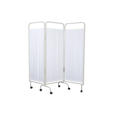 3 Section Curtain Frame with White Curtains