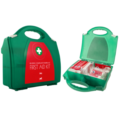 BS-8599-1 Compliant Small First Aid Kit in Contemporary Box