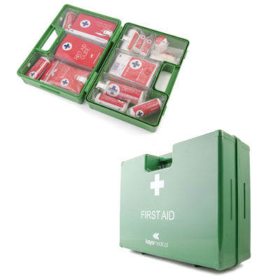 BS-8599-1 Compliant Small First Aid Kit in Deluxe Box