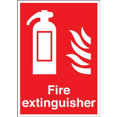 Fire Extinguisher Symbol Flame 297x210mm Rigid Kays Medical