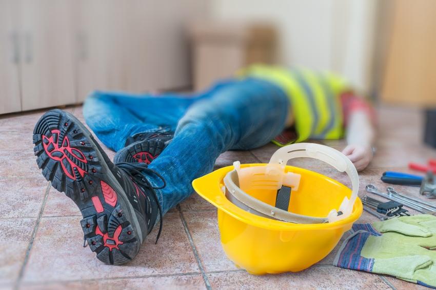 construction worker hurt