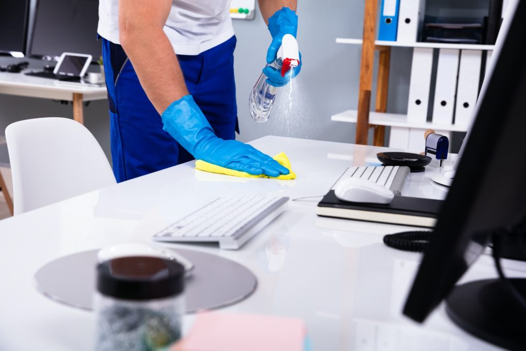cleaning desk