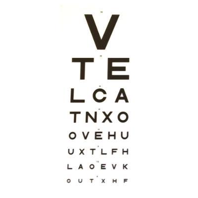 3m Vte Direct Eye Test Chart Dvla 75 Kays Medical