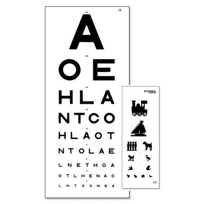 3 Metre Eye Test Chart Double Sided Kays Medical