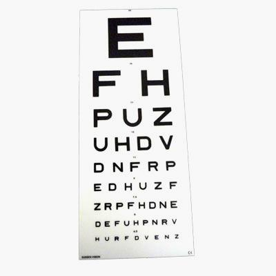 Eye Test Chart Snellen 6 Metre Efh Dvla Kays Medical
